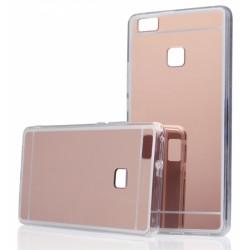 """Rausvai auksinės spalvos silikoninis dėklas Huawei P9 telefonui """"Mirror"""""""