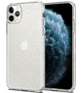 "Skaidrus dėklas su blizgučiais Apple iPhone 11 Pro Max telefonui ""Spigen Liquid Crystal Glitter"""