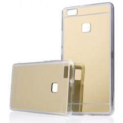 """Auksinės spalvos silikoninis dėklas Huawei P9 Lite telefonui """"Mirror"""""""