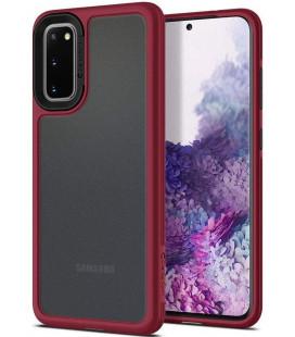 """Raudonas dėklas Samsung Galaxy S20 telefonui """"Spigen Ciel Color Brick"""""""