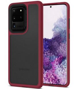 """Raudonas dėklas Samsung Galaxy S20 Ultra telefonui """"Spigen Ciel Color Brick"""""""