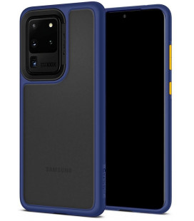 "Mėlynas dėklas Samsung Galaxy S20 Ultra telefonui ""Spigen Ciel Color Brick"""