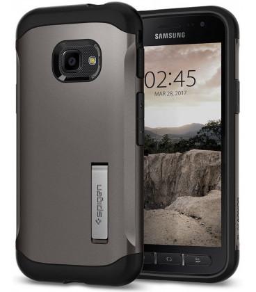 "Pilkas dėklas Samsung Galaxy Xcover 4/4s telefonui ""Spigen Slim Armor"""