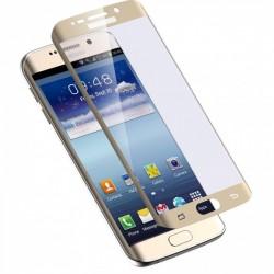 """Stiklo apsauga - lenktas auksinės spalvos grūdintas stiklas """"Tempered Glass"""" Samsung Galaxy S7 Edge G935 telefonui."""