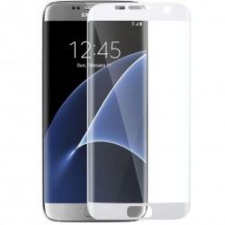 """Stiklo apsauga - lenktas baltas grūdintas stiklas """"Tempered Glass"""" Samsung Galaxy S7 Edge G935 telefonui."""