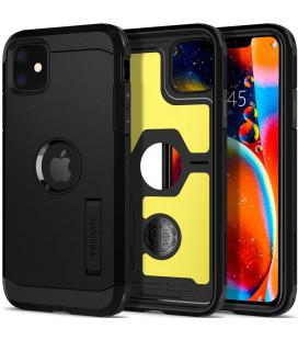 "Juodas dėklas Apple iPhone 11 telefonui ""Spigen Tough Armor XP"""