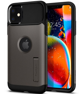 "Pilkas dėklas Apple iPhone 11 telefonui ""Spigen Slim Armor"""