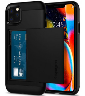 "Juodas dėklas Apple iPhone 11 Pro Max telefonui ""Spigen Slim Armor CS"""