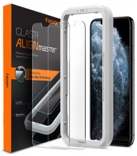 "Apsauginiai grūdinti stiklai Apple iPhone XS Max / 11 Pro Max telefonui ""Spigen AlignMaster Glas tR"""