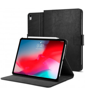 """Juodas atverčiamas dėklas Apple iPad Pro 12.9 2018 planšetei """"Spigen Stand Folio"""""""