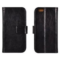 """Odinis juodas atverčiamas klasikinis dėklas Apple iPhone 5/5s/SE telefonui """"Book Special Case"""""""