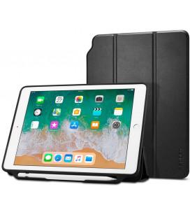 """Juodas atverčiamas dėklas Apple iPad 9.7 2017/2018 planšetei """"Spigen Smart Fold 2"""""""