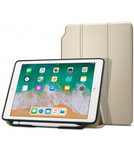 """Auksinės spalvos atverčiamas dėklas Apple iPad 9.7 2017/2018 planšetei """"Spigen Smart Fold 2"""""""