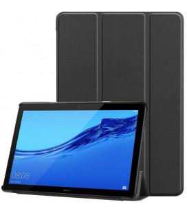 """Juodas atverčiamas dėklas Huawei Mediapad T5 10.1 planšetei """"Tech-Protect Smartcase"""""""
