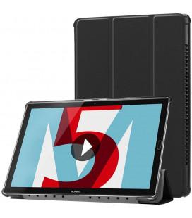 """Juodas atverčiamas dėklas Huawei Mediapad M5 10.8 / M5 Pro planšetei """"Tech-Protect Smartcase"""""""