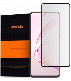 """Juodas apsauginis grūdintas stiklas Samsung Galaxy Note 10 Lite telefonui """"Mocolo"""""""