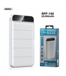 Išorinė baterija Power Bank Remax RPP-140 20000mAh balta
