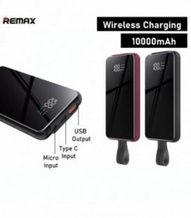 Išorinė baterija Power Bank Remax RPP-105 QC 3.0 10000mAh su bevieliu įkrovimu juoda