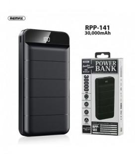 Išorinė baterija Power Bank Remax RPP-141 30000mAh juoda