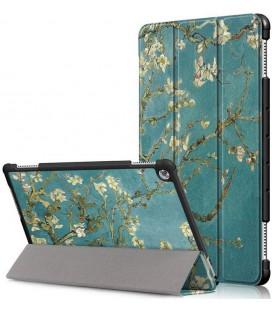 """Atverčiamas dėklas (Sakura) Huawei Mediapad M5 Lite 10.1 planšetei """"Tech-Protect Smartcase"""""""