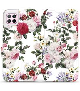 """Atverčiamas dėklas """"Gėlės"""" Huawei P40 Lite telefonui """"Mobiwear MD01S"""""""
