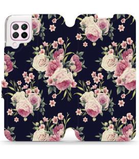 """Atverčiamas dėklas """"Laukinės rožės"""" Huawei P40 Lite telefonui """"Mobiwear V068P"""""""