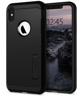 "Juodas dėklas Apple iPhone X/XS telefonui ""Spigen Tough Armor"""