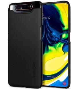 "Juodas dėklas Samsung Galaxy A80 telefonui ""Spigen Thin Fit"""