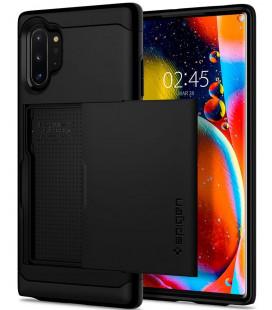 """Juodas dėklas Samsung Galaxy Note 10 Plus telefonui """"Spigen Slim Armor CS"""""""