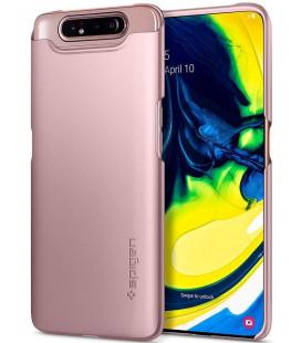 """Rausvai auksinės spalvos dėklas Samsung Galaxy A80 telefonui """"Spigen Thin Fit"""""""