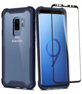 "Mėlynas dėklas Samsung Galaxy S9 Plus telefonui ""Spigen Hybrid 360"""