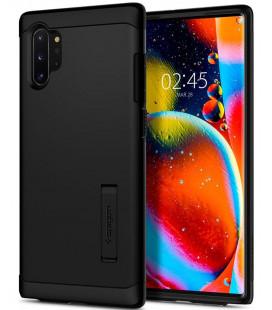 """Juodas dėklas Samsung Galaxy Note 10 Plus telefonui """"Spigen Slim Armor"""""""
