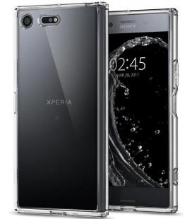 "Skaidrus dėklas Sony Xperia XZ Premium telefonui ""Spigen Ultra Hybrid"""