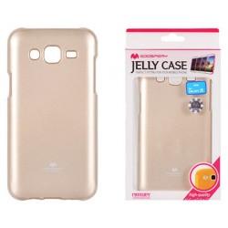 """Auksinės spalvos dėklas Mercury Goospery """"Jelly Case"""" Samsung Galaxy J5 2016 J510 telefonui"""