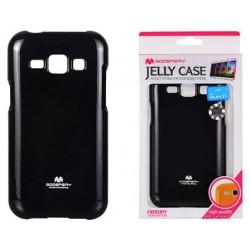 """Juodas dėklas Mercury Goospery """"Jelly Case"""" Samsung Galaxy J1 2016 J120 telefonui"""