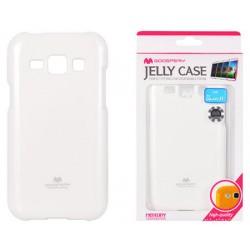 """Baltas dėklas Mercury Goospery """"Jelly Case"""" Samsung Galaxy J1 2016 J120 telefonui"""