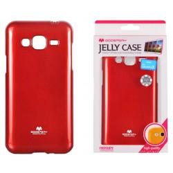 """Raudonas dėklas Mercury Goospery """"Jelly Case"""" Samsung Galaxy J3 2016 J320 telefonui"""