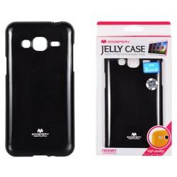 """Juodas dėklas Mercury Goospery """"Jelly Case"""" Samsung Galaxy J3 2016 J320 telefonui"""