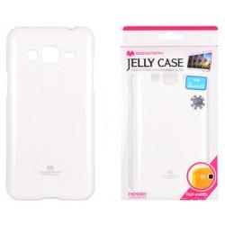 """Baltas dėklas Mercury Goospery """"Jelly Case"""" Samsung Galaxy J3 2016 J320 telefonui"""