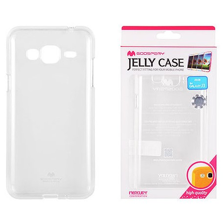 """Skaidrus dėklas Mercury Goospery """"Jelly Case"""" Samsung Galaxy J3 2016 J320 telefonui"""