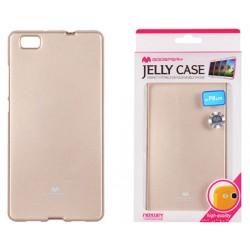 """Auksinės spalvos dėklas Mercury Goospery """"Jelly Case"""" Huawei P8 Lite telefonui"""