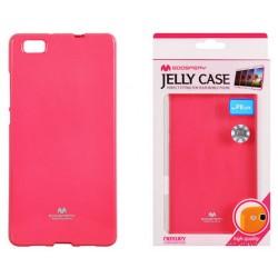 """Rožinis dėklas Mercury Goospery """"Jelly Case"""" Huawei P8 Lite telefonui"""