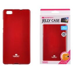 """Raudonas dėklas Mercury Goospery """"Jelly Case"""" Huawei P8 Lite telefonui"""