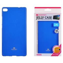 """Mėlynas dėklas Mercury Goospery """"Jelly Case"""" Huawei P8 telefonui"""