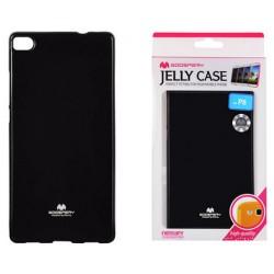 """Juodas dėklas Mercury Goospery """"Jelly Case"""" Huawei P8 telefonui"""