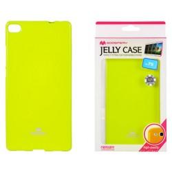 """Žalias dėklas Mercury Goospery """"Jelly Case"""" Huawei P8 telefonui"""