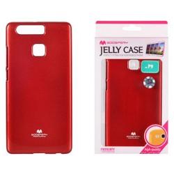 """Raudonas dėklas Mercury Goospery """"Jelly Case"""" Huawei P9 telefonui"""