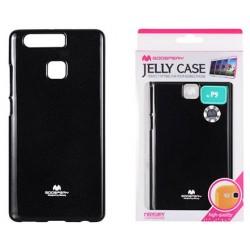 """Juodas dėklas Mercury Goospery """"Jelly Case"""" Huawei P9 telefonui"""