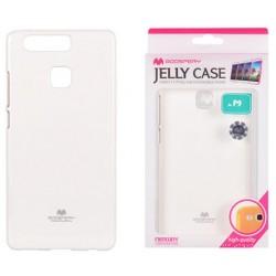 """Baltas dėklas Mercury Goospery """"Jelly Case"""" Huawei P9 telefonui"""