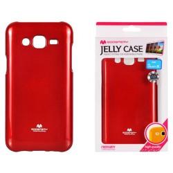 """Raudonas dėklas Mercury Goospery """"Jelly Case"""" Samsung Galaxy J5 2016 J510 telefonui"""